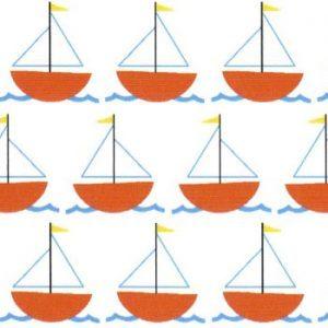 Fabric Finders 1999 Sailboat Fabric – Orange 60″ wide bolt