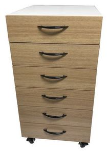 EverSewn ES-LOFT4C #4 High-Rise Drawers with Lockable Casters