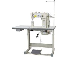"""TechSew GC 815 , Post Bed, Industrial Sewing Machine, KD knocked down unassembled Table Stand, Servo Motor, 1800 RPM, 3/8"""" foot Lift, 0-5mm SL stitch length,  Table, Stand, Motor"""