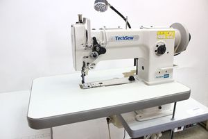 96274: Techsew 2600 PRO Narrow Cylinder Leather Industrial Sewing Machine, Large bobbin compound feed with Stand and Motor