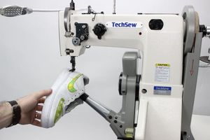 """TechSew 7600 , GC2301, GC-2301, Cylinder Bed, Walking Foot, Needle Feed, Leather Stitcher, 10.5"""" Arm, 10/16mmLift, 5mmSL, Safety Clutch, Top L Bobbin, DC 2200RPM, KD U-Table"""