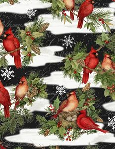 Wilmington Prints 3023 39638 917 Cardinal Noel Large A/O Black
