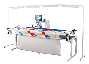 Grace Qnique 21PRO Longarm Quilting Machine +8-10ft Continuum Frame +QCT5 Beginnings Software Robotics, $1000 August Bonus Accessories, Light Bar