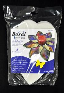 Bosal BOS495-8 In-R-Form Single Sided Fusible Heart Leaf Shape