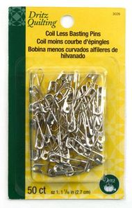 110 pieces Sullivans Curved Basting Pins Size 1