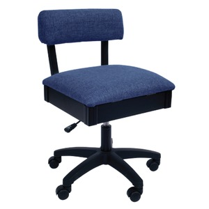 Arrow H8130 Swivel Chair, Under Seat Storage, Duchess Blue Fabric