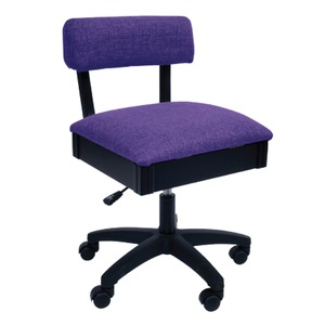 Arrow H8160 Swivel Chair, Under Seat Storage, Royal Purple Fabric