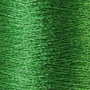Yenmet Metallic 500m-Solid Green 7002 Spool of Specialty Metallic Thread