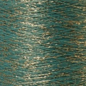 Yenmet Twilight Silver 500m-Turquoise 7045 Spool of Specialty Metallic Thread