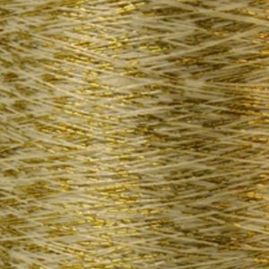 Yenmet Twilight Gold 500m-Off White 7058 Spool of Specialty Metallic Thread