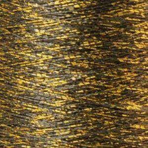 Yenmet Twilight Gold 500m-Black 7055 Spool of Specialty Metallic Thread