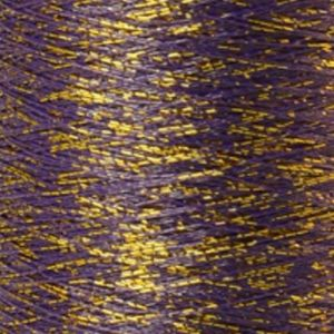 Yenmet Twilight Gold 500m-Purple 7053 Spool of Specialty Metallic Thread