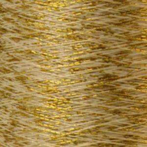Yenmet Twilight Gold 500m-White 7050 Spool of Specialty Metallic Thread