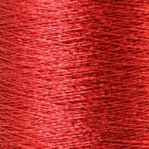 Yenmet Metallic 500m-Solid Red 7024 Spool of Specialty Metallic Thread