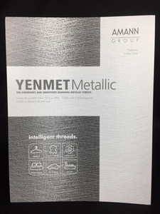 Yenmet CC/YENMET Actual Real Thread Color Chart for Single Spools of Specialty Metallic Thread Made in Japan for Isacord