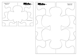 """96892: DM Quilting DT-DMQPZ 2½"""" x 3½"""" and 3½"""" x 5"""" Puzzle Quilting Template 2-Piece Set"""