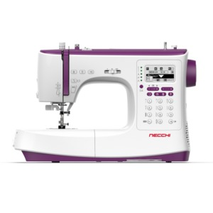 96898: Necchi NC204D 439Stitch Computer Sewing Machine, Auto Threader/Trimmer, 13 x 1-Step Buttonholes, 3 Fonts, Start/Stop, Speed Control, Ext Table, 13Feet