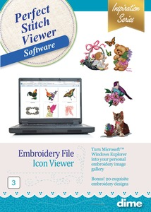 DIME Inspirations Perfect Stitch Viewer Embroidery Software - Digital Delivery