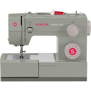 Singer Heavy Duty 4452, 32-Stitch Mechanical Sewing Machine 50% More Power, 1100SPM, Top Bobbin, Threader, 1-Step Buttonhole, Stainless Steel Bed Plate