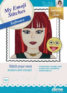 DIME, Designs in Machine Embroidery, Emoji, Embroidery, Embroidery Software, digital, digital download, download,