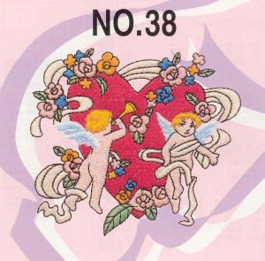 Brother SA338 No.38 Angels Embroidery Card for Brother, Babylock, Bernina Deco 500-650, White, Simplicity SE3