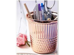Tacony Rose Gold Thimble Craft Container