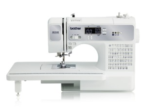 97014: Brother RXR3440 140/195 Stitch Computer Sewing Quilting Machine, 8 BHs, Font, Ext Table, Threader, Start/Stop, Needle