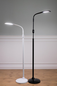 Stella Sky Two Floor Stand Lamp Light LED, Flexible Arm, Remote Control—With Color Options