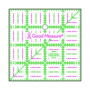 "Good Measure GM4S 4"" x 4"" Square Ruler"
