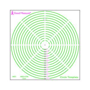 Good Measure GMCR Circle Template Ruler