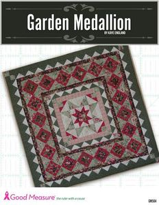 Good Measure, Kaye England, garden, medallion, Quilt Pattern, Quilting, Templates