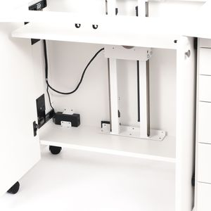 97071: Americana R1091 Electric Lift Mechanism for Custom Builders of Sewing Machine Cabinets, Program Auto Stop Positions for Free Arm, Flat Bed and Storage