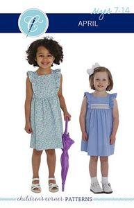 Childrens Corner CC301L April Dress Sewing Pattern Sizes 7-14