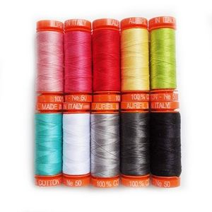 Love Notes  by Kimberbell KC50LN10 Aurifil Thread Collection, 10 Spools of 50wt Cotton