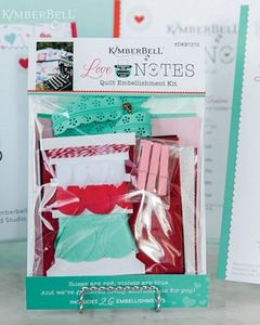 Love Notes by Kimberbell KDKB1210 Mystery Quilt Embellishment Kit