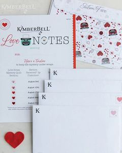 Love Notes by Kimberbell KD725 Love Notes for Sewing