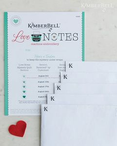 Love Notes by Kimberbell KD808 Love Notes for Machine Embroidery