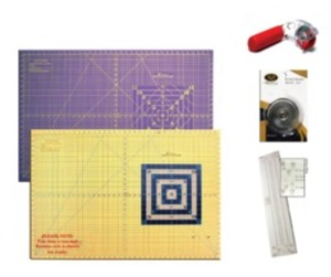 "Virtual Event Special: Large Mat Bundle with 26"" x 38"" Mat, Rotary Cutter, Replacement Blades, Binding Ruler"