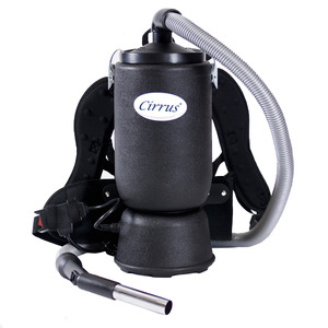 "97472: Cirrus DC-XC120A 6 Qt. Backpack Vacuum, Black 1½"" wide Hose, Tools Sold Separately"