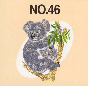 Brother SA346 No.46 Australian 18 Animals Embroidery Card .pes Format