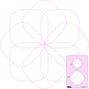 DM Quilting-Soft Square Templates, Set of 2 by Donna McCauley—With Shank Options