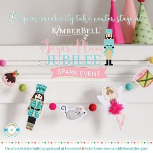 VIRTUAL Kimberbell Sugar Plum Jubilee 1 Day Machine Embroidery Event FRIDAY August 21, 2020 10am