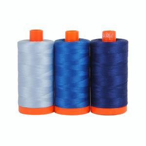 Aurifil Color Builder Como Blue 3pc. Thread Collection