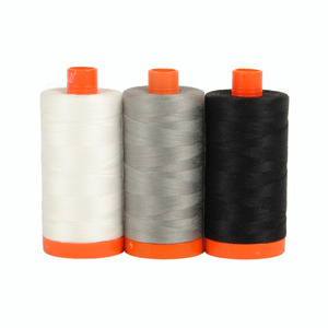 Aurifil Color Builder Carrara Black White 3pc.
