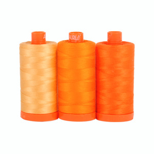 Aurifil Color Builder Tuscany Orange 3 pc. Thread Collection