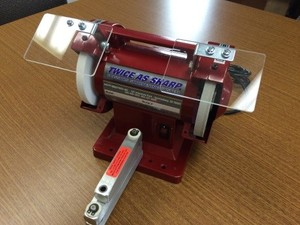 Wolff IND-TAS Twice As Sharp Commercial Scissor Shear and Trimmer Sharpener,  Grinder Buffer Wheels, Covers, Eye Shield, Finger Guard, Video