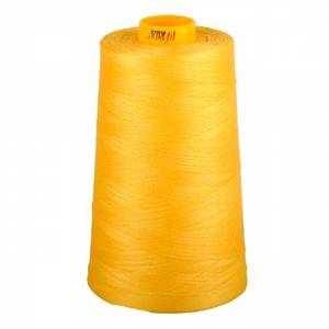 Aurifil Mako MK40-3CO-1135 Pale Yellow, 40wt Poly 3280 yd. Cone Thread