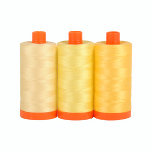 Aurifil Color Builder Sicily Yellow 3 pc. Thread Collection
