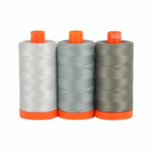 Aurifil Color Builder Milan Grey 3 pc. Thread Collection