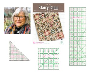 Good Measure GM503 Starry Cabin Quilt Pattern by Kaye England and GM4S, GMHS, GM14x14 3pc Ruler Set